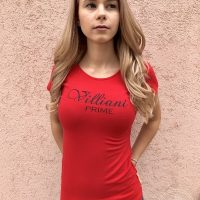 Prime by Villiani - red T-shirt Crhistmass edition